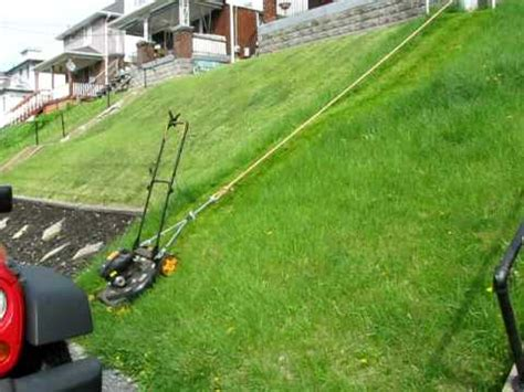 Backyard On A Slope Cutting The Lawn Hill Style Youtube