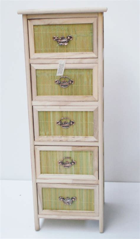 5 draw wicker bathroom living room storage unit cabinet ebay