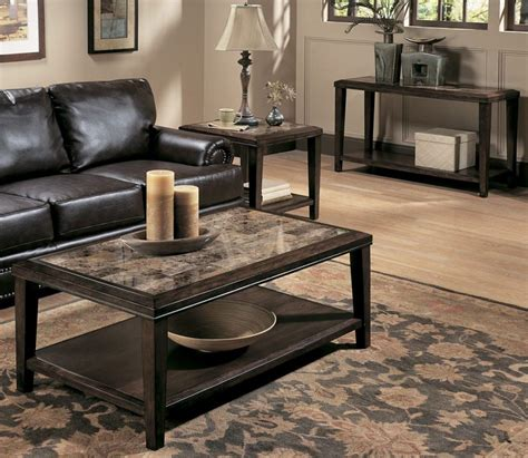 Living Room Tables Furniture Inspiring Tables For Living Room Ideas In Awesome Finish Modern Espresso Living Room