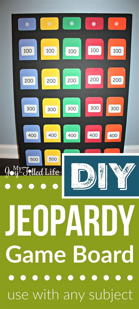 printable science board games diy jeopardy game board game boards math and board