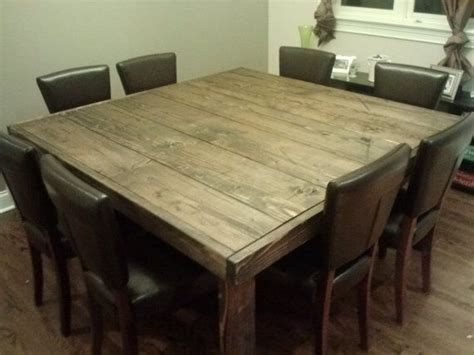square wood kitchen table 1000 ideas about reclaimed wood tables on