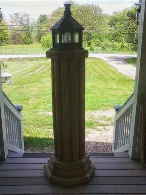 Landscape Timber Lighthouse Landscape Timber Lighthouse Plans Woodworking Projects