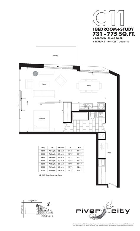 floor plans for river city river city at 51 trolley cres rivercity 1 bedc11floorplan river city at 51 trolley