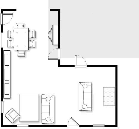 L Shaped Room Furniture Placement by L Shaped Living Room Dining Room Furniture Layout Living Room