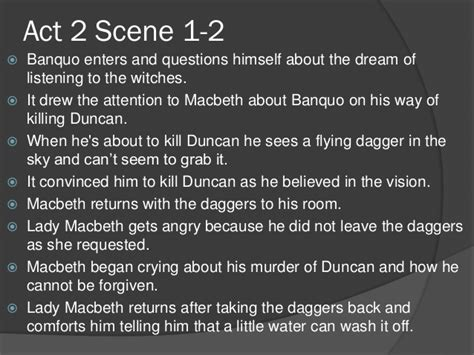complete scene 2 act 1 macbeth outline of macbeth act 1 to act 3