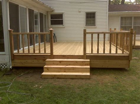 simple wood deck 1st cedar deck decks fencing contractor talk