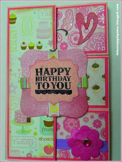 Kartu Ucapan Handmade Ala Scrapbook Card 2 tarjetas de cumplea 241 os para hermano hechas a mano buscar