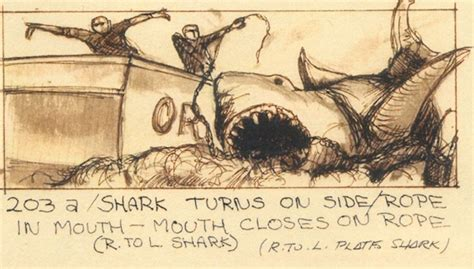 jaws story on boat photo storyboards of jaws featuring closeups and boat