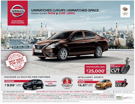 car ads 2017 nissan sunny car half page ad advert gallery