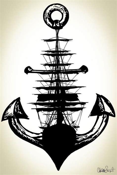 boat drawing tattoo boat anchor draw drawings pinterest sailing ships