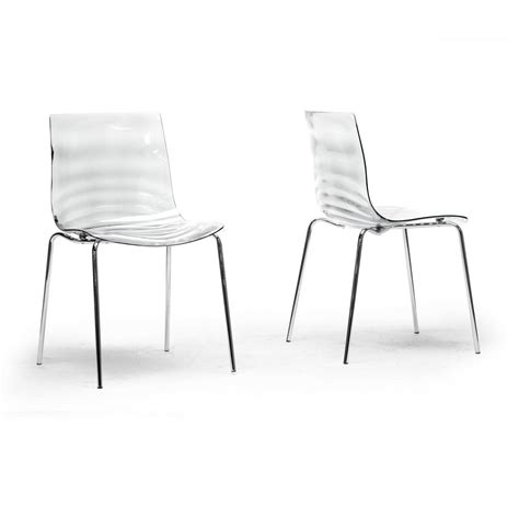 Clear Dining Chairs Baxton Studio Marisse Clear Finished Plastic Dining Chairs Set Of 2 2pc 4744 Hd The Home Depot