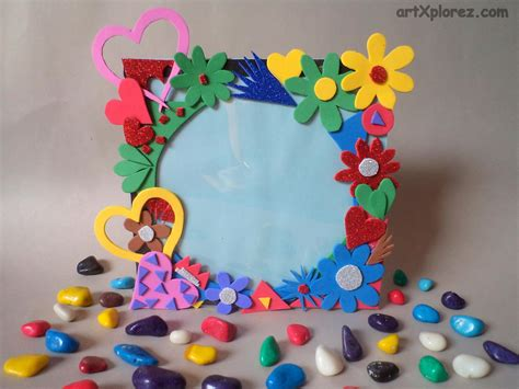 Foam Paper Craft Ideas - photo frame using craft foam artxplorez