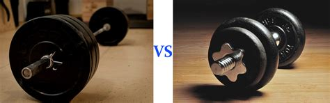 difference between dumbbell and barbell bench press dumbbells vs barbells dumbbell shoulder press vs barbell