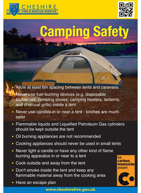 should the tent be burning like that a professional ã s guide to the outdoors books runcorn cing safety