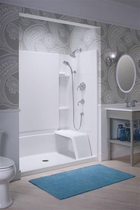 Sterling Bathroom Showers Sterling Bathroom Showers Sterling Finesse 30 1 4 In X 65 1 2 In Semi Frameless Pivot Shower