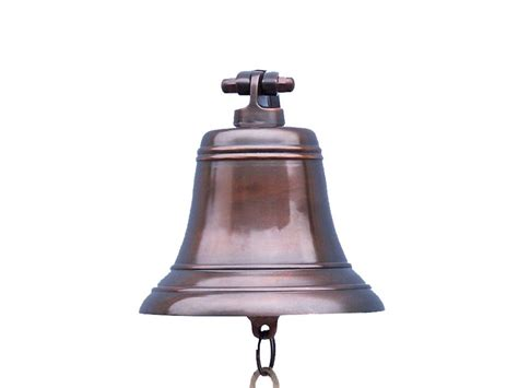 antiqued copper bell 8 quot antique ships bell copper bells