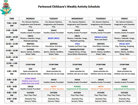home daycare schedule template pin daycare daily schedule template image search results