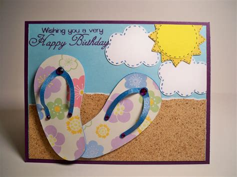 how to make flip card card creations more by c birthday card flip flops