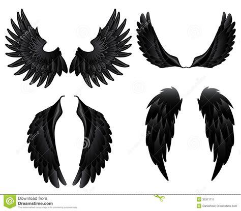 imagenes alas negras alas negras ilustraci 243 n del vector imagen de silueta