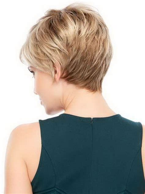 show the back view of short hair longer in front back view of short pixie hairstyles