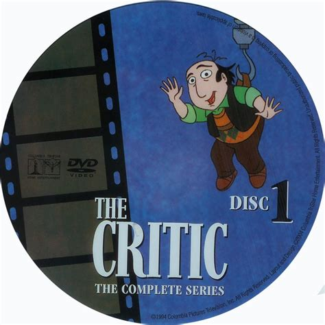 The Critic the critic d1 scanned dvd labels the critic d1 dvd