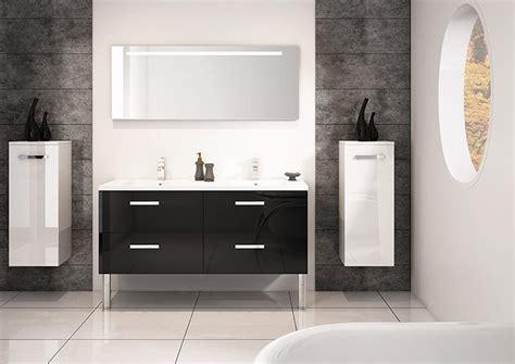 meuble double vasques cm gloss noir serie loft discac salle de bains meuble de salle de bains