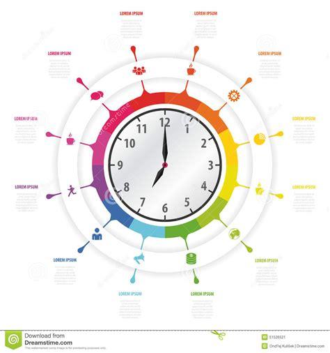 modern work modern work time management planning infographics stock