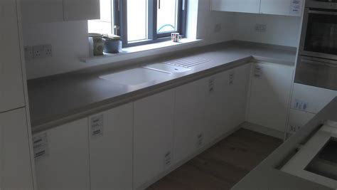Corian Worktop Cost Corian Clay Island On White Mereway Handless Kitchen