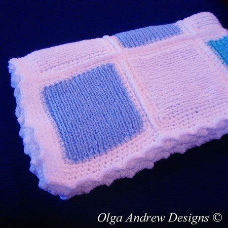 Patchwork Baby Blanket Pattern - patchwork baby blanket knit crochet pattern 042