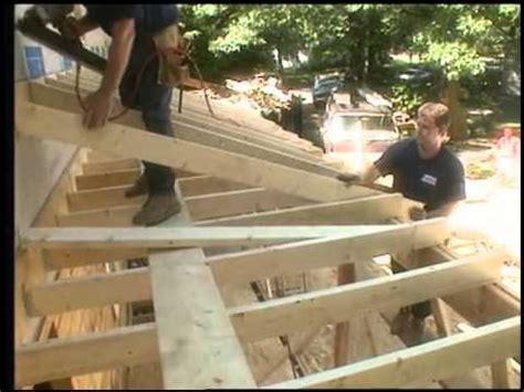 framing  porch roof youtube