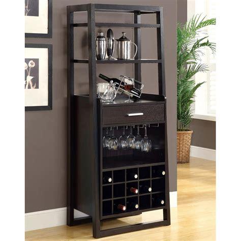 dulcet tall wine rack open shelves cappuccino dcg stores