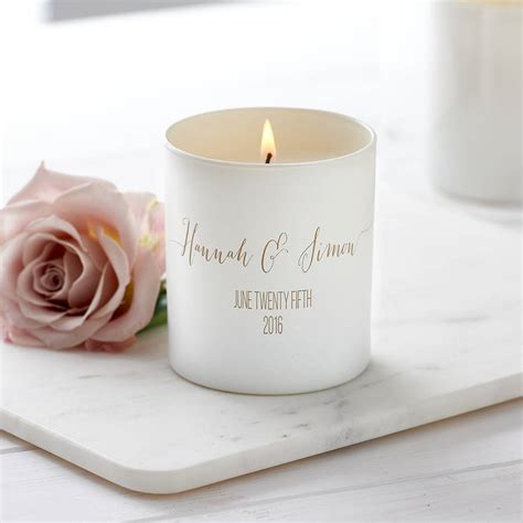personalised glow through wedding candle by lily belle