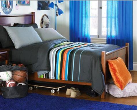 lime green  navy striped bedding blue green