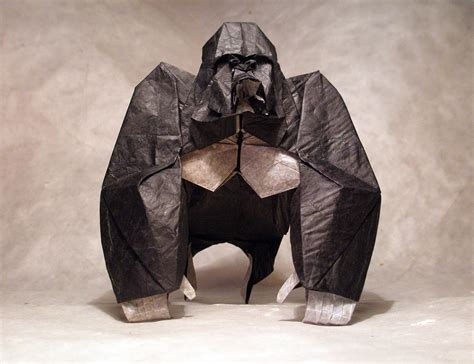 Origami Gorilla - celebrate new year with 14 origami monkeys