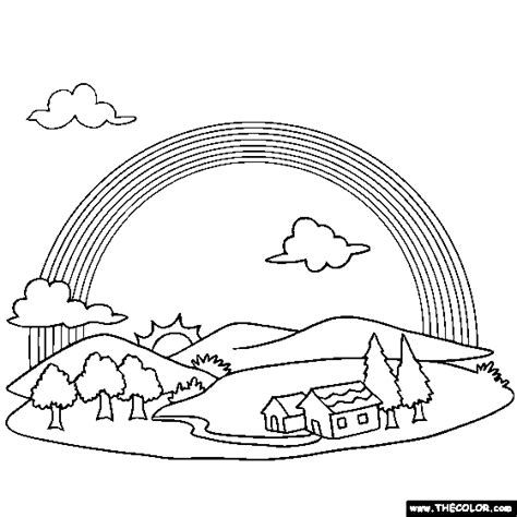 detailed rainbow coloring page rainbows and unicorns online coloring pages page 1
