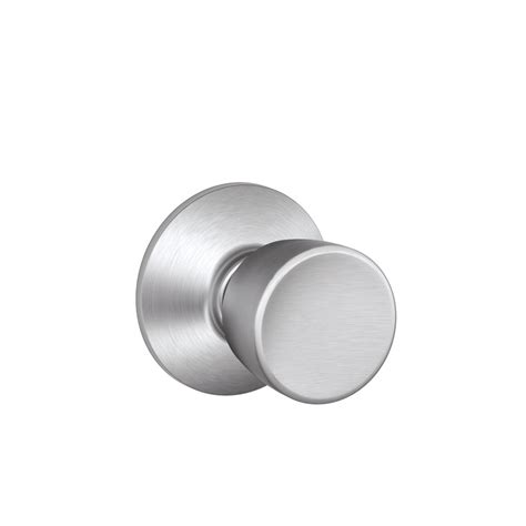 Bell Knob by Shop Schlage Bell Satin Chrome Tulip Passage Door Knob At