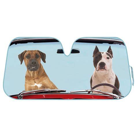 shade for dogs 2 dogs auto sun shade for car suv truck foil jumbo folding accordion windshield ebay
