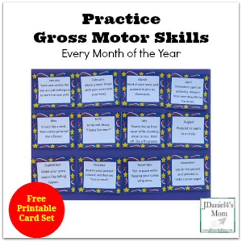 4 month motor skills practice gross motor skills every month of the year