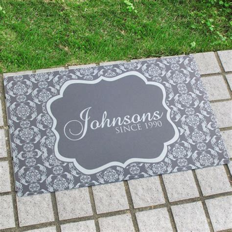 personalized  family  doormat  home decor