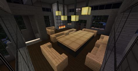 modern minecraft mansion living room by thefawksyartist on modern minecraft mansion main dining hall 2 by
