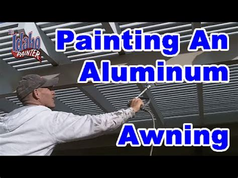 how to paint awnings how to paint an aluminum awning painting an awing with a
