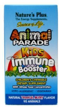 Natures Plus Animal Parade Immune Booster 90s animal parade immune booster chewable tropical berry 90 ct 9 65ea from natures plus
