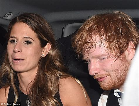ed sheeran wife ed sheeran looks worse for wear as he leaves party with