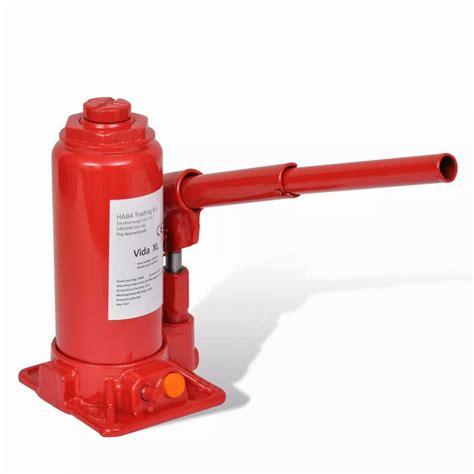 vidaXL.co.uk | 210257 Hydraulic Bottle Jack 5 Ton Red Car ... Hydraulic Car Bottle Jack