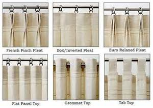 curtain top types drapery heading styles for custom panels style drapery