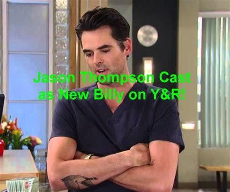 whos leaving young and restless the young and the restless spoilers jason thompson is new