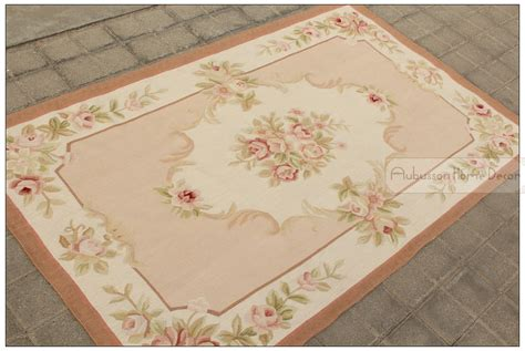 3 x5 wool hand woven shabby chic french style aubusson area rug carpet pink ivory in rug from