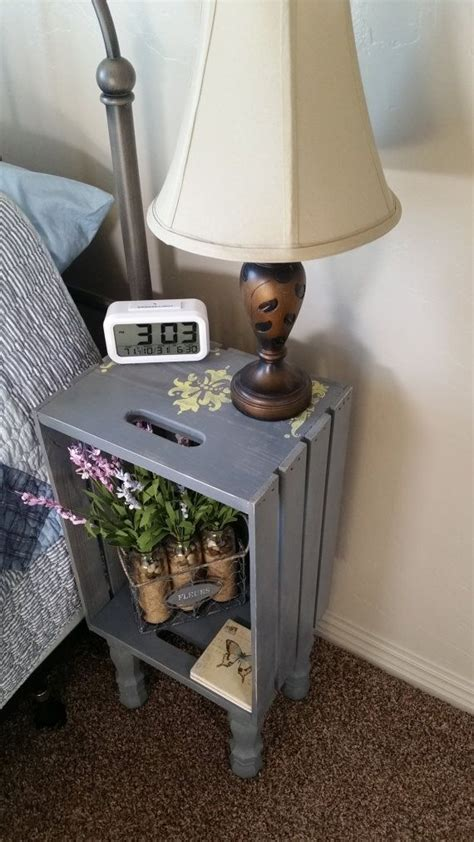 crate end table gray best 25 crate nightstand ideas on wooden