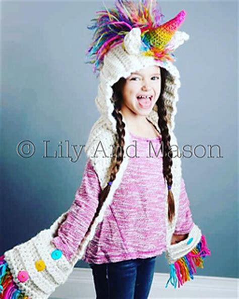 unicorn hood pattern ravelry rainbow unicorn hooded scarf pattern by keri
