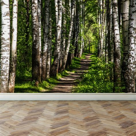 fabric murals for walls wall mural forest and peel and stick